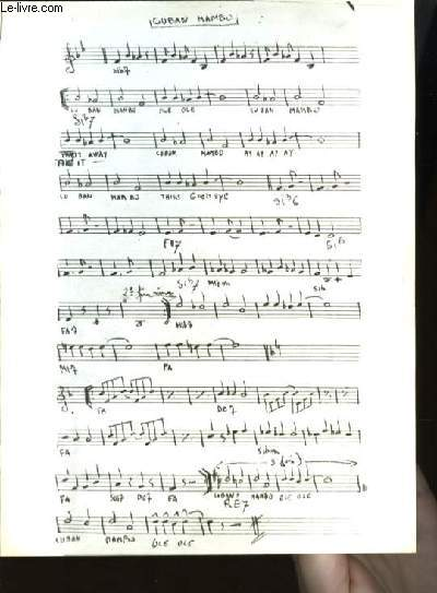 CUBAN MAMBO partition pour violon
