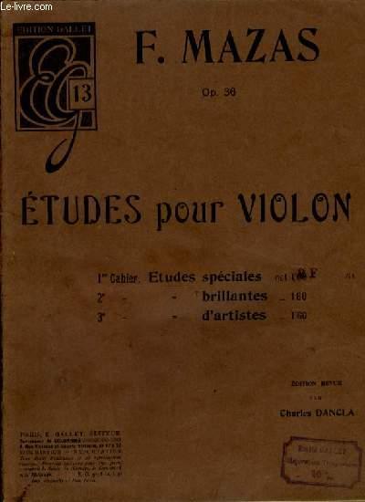 ETUDES POUR VIOLON 1er CAHIER: ETUDES SPECIALES