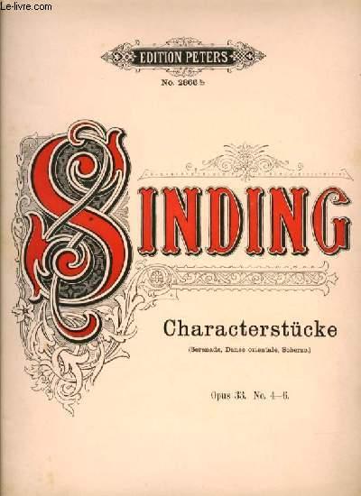 CHARACTERSTUCKE (Sérénade, Danse orientale, Scherzo) OP.33 N°.4-6