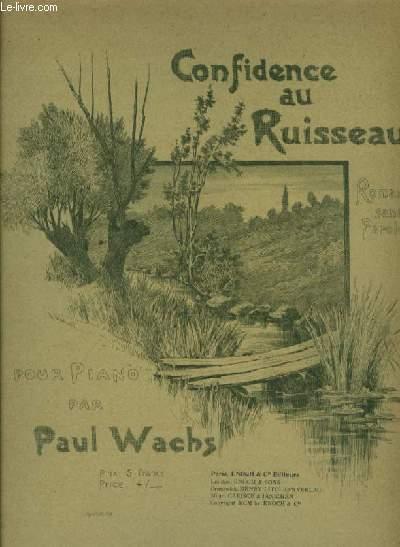 CONFIDENCE AU RUISSEAU pour piano