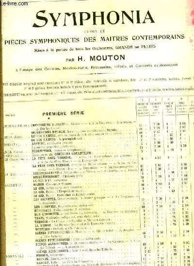 SYMPHONIA N°18 WERTHER: Prelude et Clair de Lune PARTITION POUR ORCHESTRE