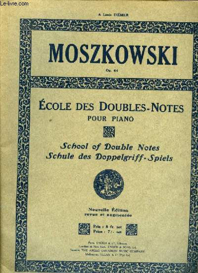 ECOLE DES DOUBLES NOTES POUR PIANO