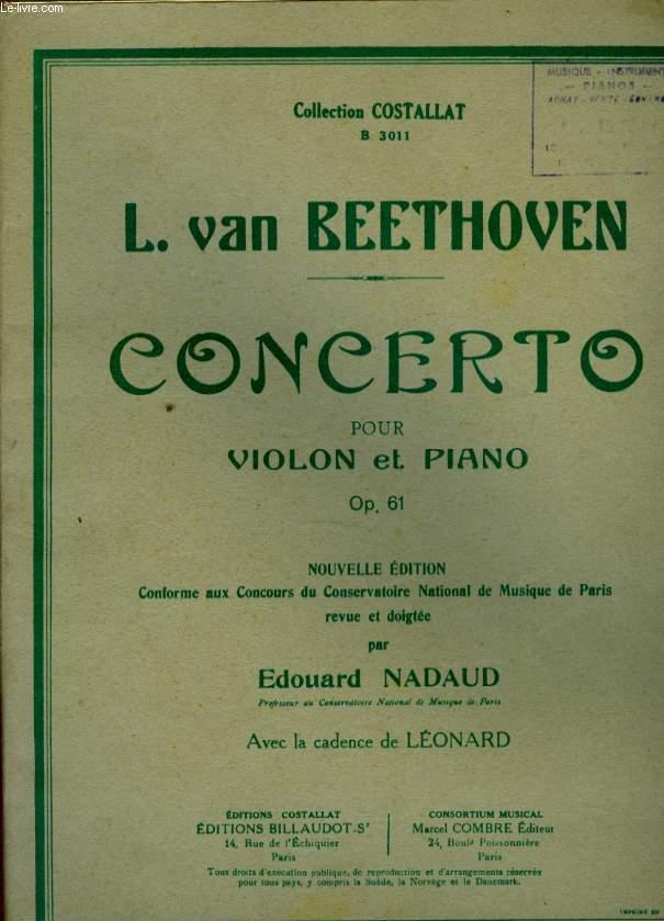 CONCERTO POUR VIOLON ET PIANO OP.61