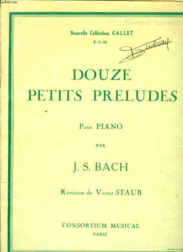 DOUZE PETITS PRELUDES