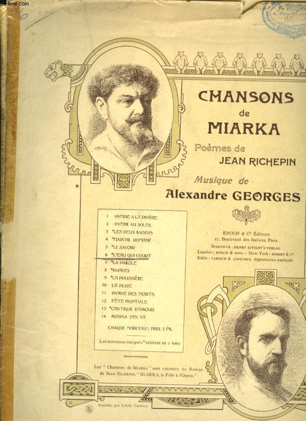 CHANSONS DE MARKA N°6 L'EAU QUI COURT