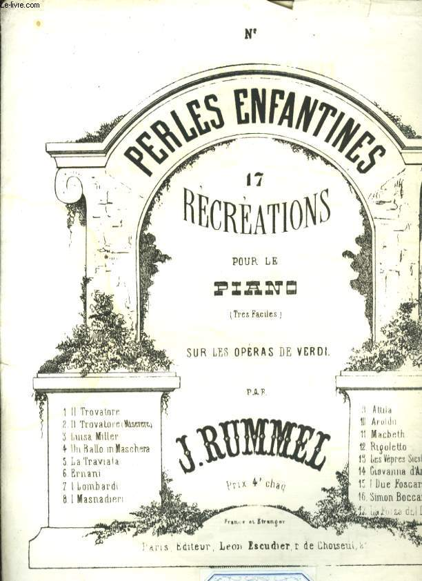 PERLES ENFANTINES 17 RECREATIONS POUR LE PIANO N° 12 RIGOLETTO.