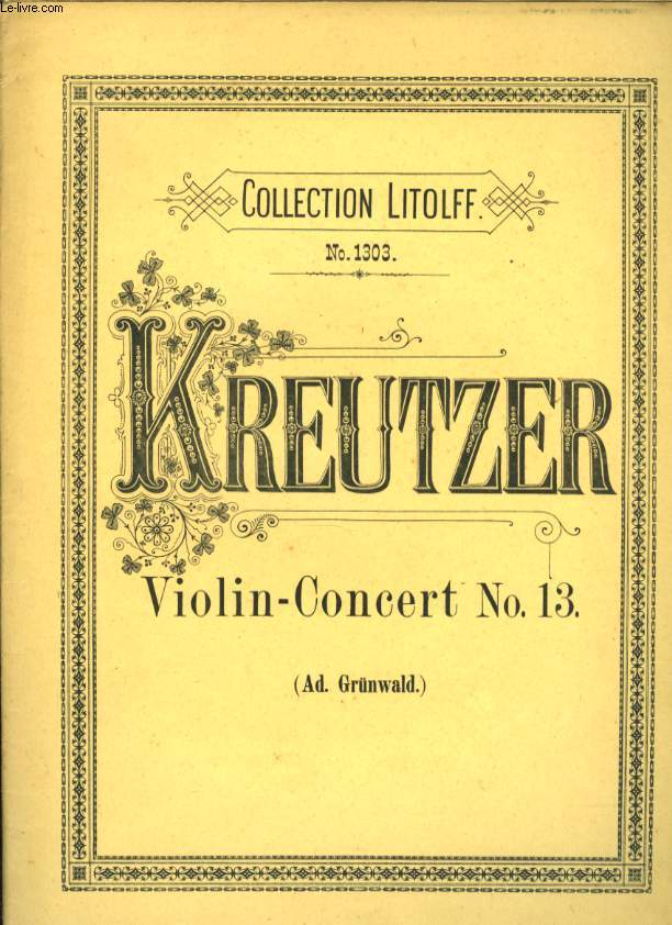 COLLECTION LITOLFF N01303 VIOLIN - CONCERT N°13