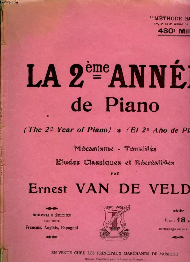 LA 2EME ANNEE DE PIANO