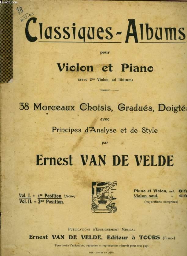 CLASSIQUES ALBUM   38 MORCEAUX CHOISIES POUR VIOLON ET PIANO