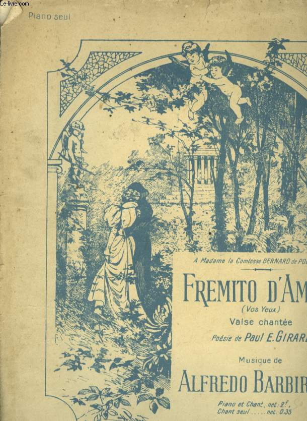 FREMITO D'AMORE ( FREMISSEMENT D'AMOUR) VALSE CHANTEE