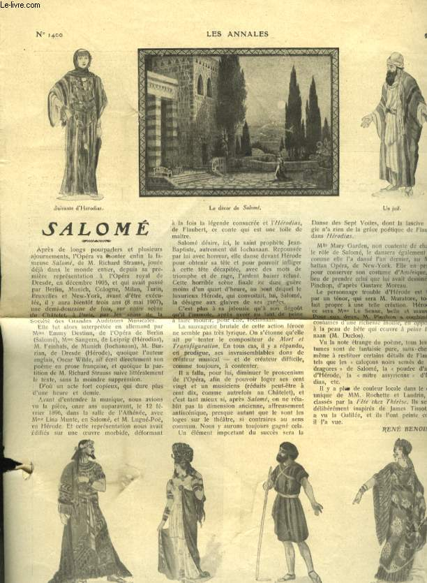 SALOME LES ANNALES / L'AMOUR ET L'ORAGE