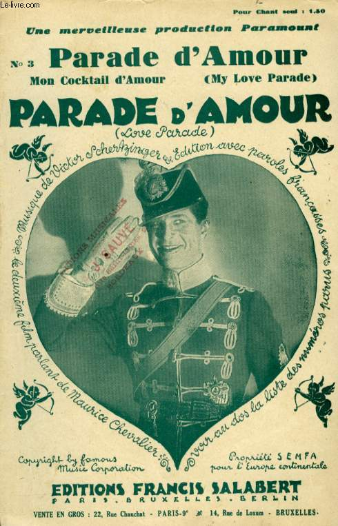 PARADE D'AMOUR ( MY LOVE PARADE)  ( MON COCKTAIL)