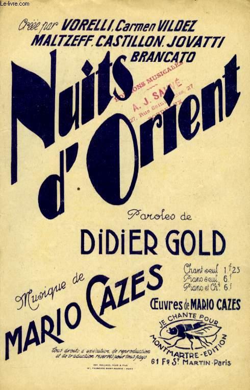 NUITS D'ORIENT  BOSTON