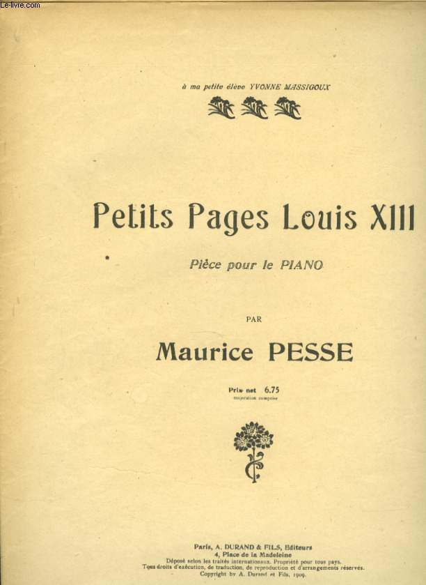 PETITS PAGES LOUIS XIII