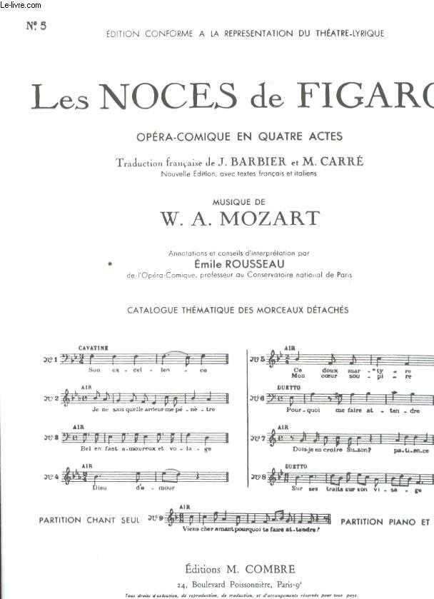 LES NOCES DE FIGARO OPERA COMIQUE EN 4 ACTES.N°5