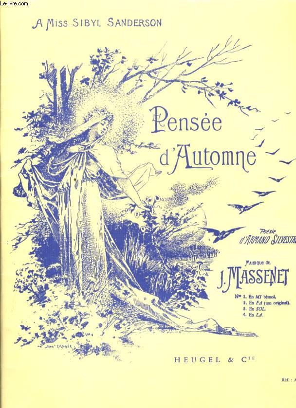 PENSEE D'AUTOMNE N°1, 2, 3 ET 4