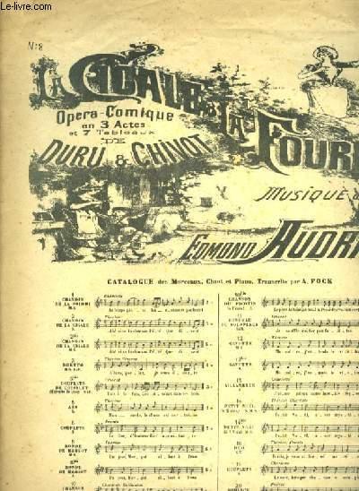 LA CIGALE ET LA FOURMI OPERA COMIQUE EN 3 ACTES ET 10 TABLEAUX N°8 RONDE DE MARGOT