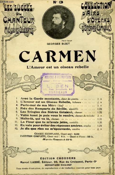 CARMEN N° 3 PARLE MOI DE MA MERE