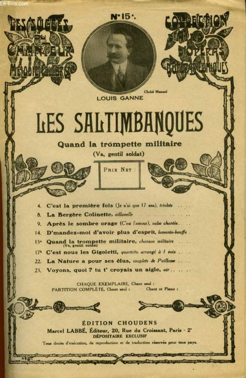 LES SATIMBANQUES N° 15 QUAND LA TROMPETTE MILITAIRE  ( VA GENTIL SOLDAT)