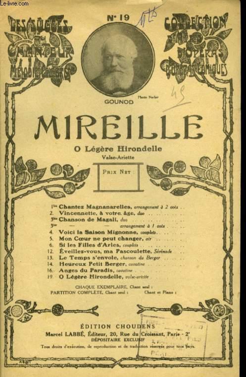 MIREILLE N° 19 Ô LEGERE HIRON DELLE, VALSE ARIETTE