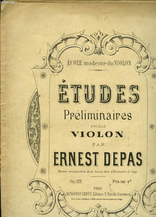 ETUDES PRELIMINAIRES POUR LE VIOLON
