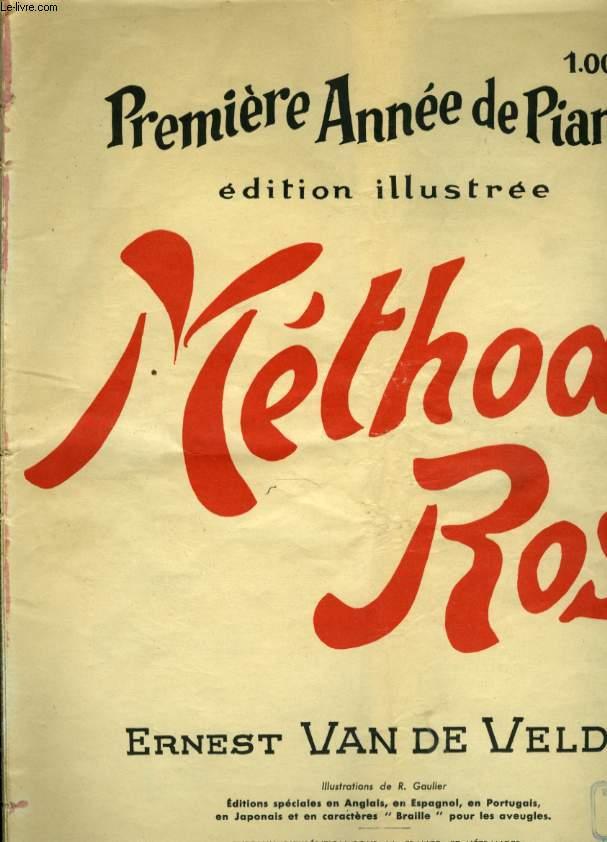 METHODE ROSE PREMIERE ANNEE DE PIANO