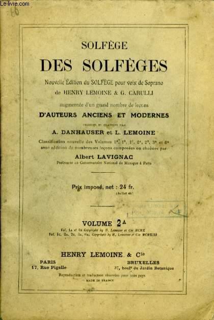 SOLFEGE DES SOLFEGES VOLUME 2 A