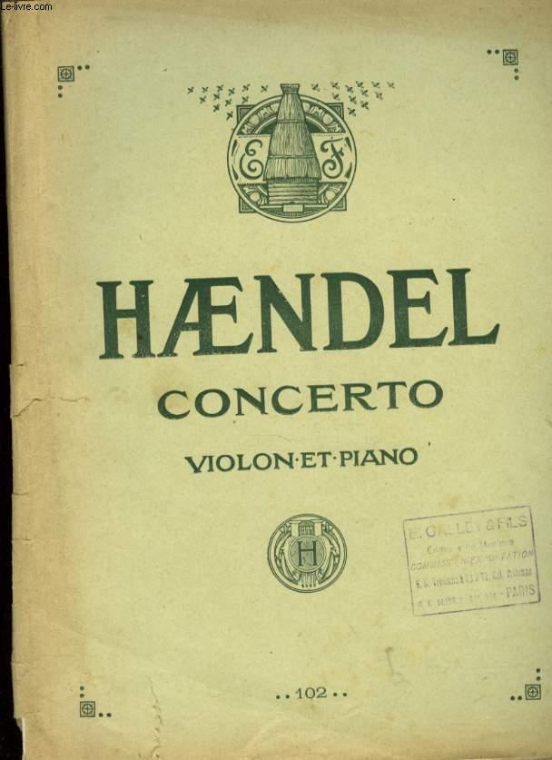 CONCERTO VIOLON ET PIANO