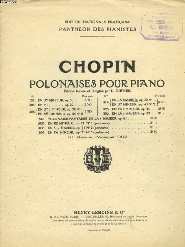POLONAISES POUR PIANO