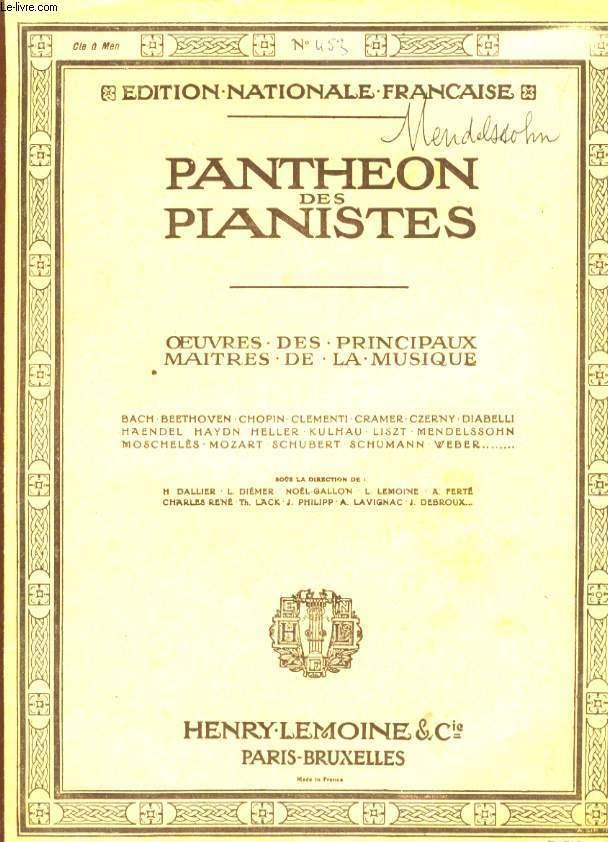 PANTHEON DES PIANISTES
