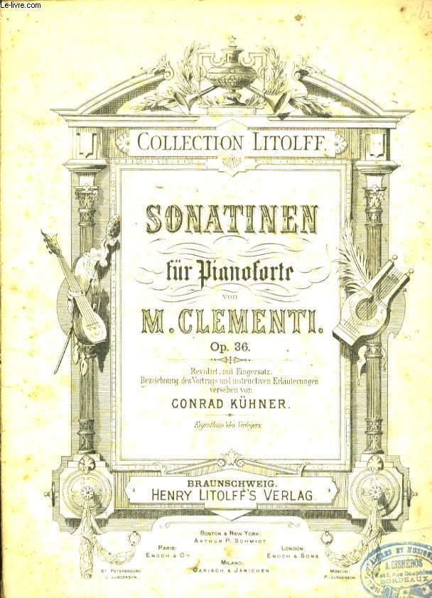 SONATINEN FUR PIANOFORTE