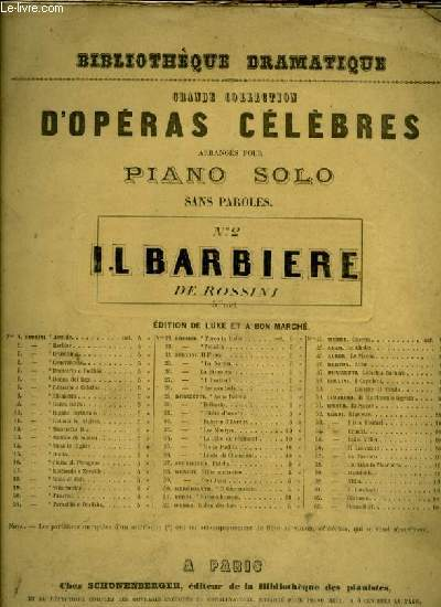 GRANDE COLLECTION D'OPERAS CELEBRES -  IL BARBIERE (n°2)