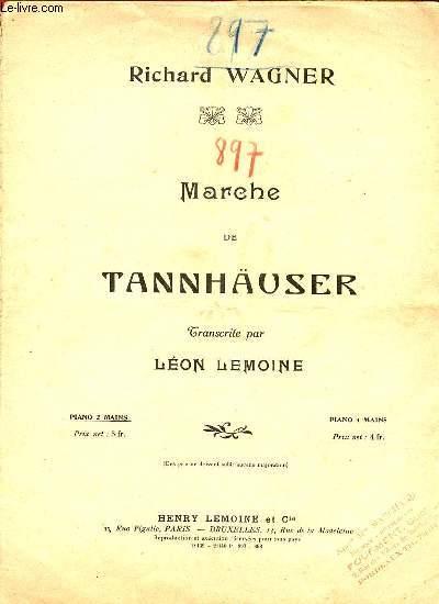 MARCHE DE TANNHÄUSER TRANSCRIT POUR PIANO PAR LEON LEMOINE.