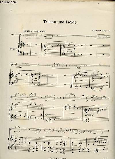 TRISTAN UND ISOLDE. POUR VIOLON ET PIANO.