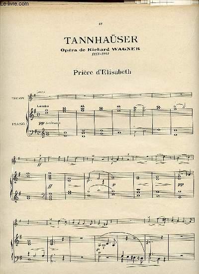 TANNHAÜSER. PRIERE D'ELISABETH.
