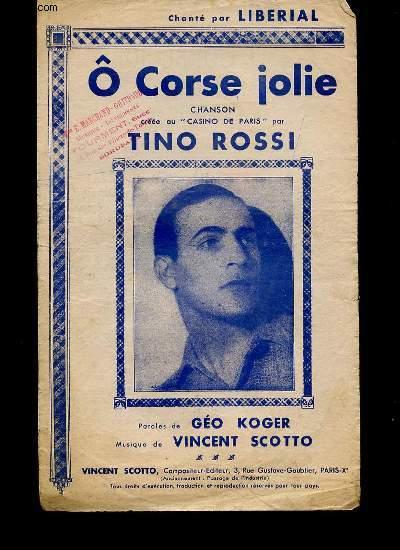 O CORSE JOLIE, CHANSON CREE AU