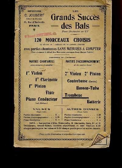 LES GRANDS SUCCES DES BALS POUR ORCHESTRE EN UT.