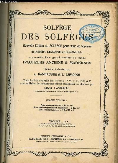SOLFEGE DES SOLFEGES NOUVELLES EDITION DU SOLFEGE POUR VOIX DE SOPRANO. VOLUME 2 A.