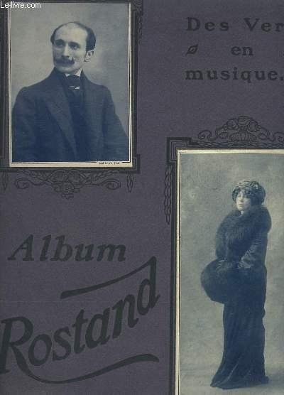 ALBUM ROSTAND - 13 MELODIES POUR CHANT ET PIANO : BALLADE DES GROS DINDONS - MA PREMIERE LETTRE - VILLANELLE DES PETITS CANARDS - PASTORALE DES COCHONS ROSES - TU ME DIRAIS - LES CIGALES - IL ETAIT UNE FOIS - VIEUX PORTRAIT - MALGRES NOUS ...