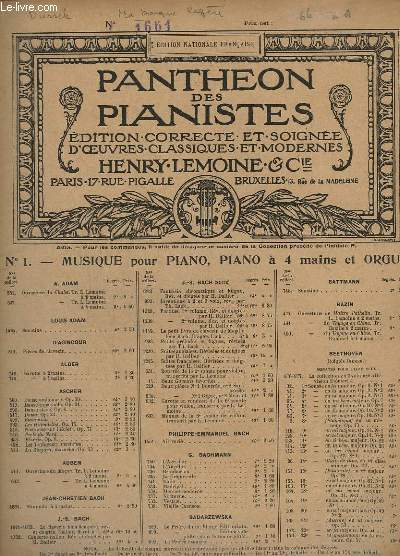 OEUVRES POUR PIANO - N° 43 : MA BARQUE LEGERE, AIR DE GRETRY.