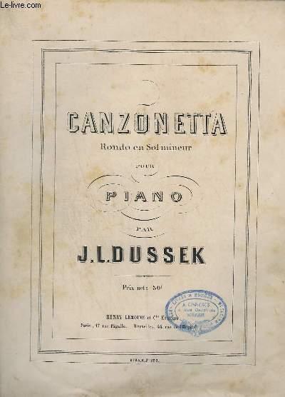 CANZONETTA - RONDO EN SOL MINEUR PÖUR PIANO.