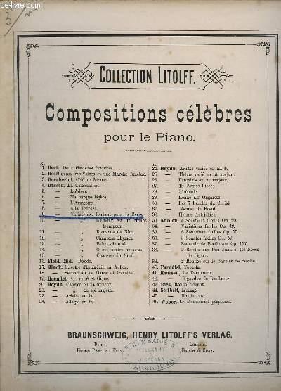 COMPOSITION CELEBRES POUR LE PIANO - INCOMPLETE - N° 9 : PARTANT POUR LA SYRIE, ROMANCE FAVORITE.