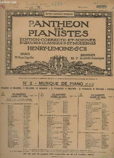 LES CLASSIQUES FAVORIS DU PIANO - N° 1200 : SONATINE OP. 20, N°2 - N°1 ALLEGRETTO.