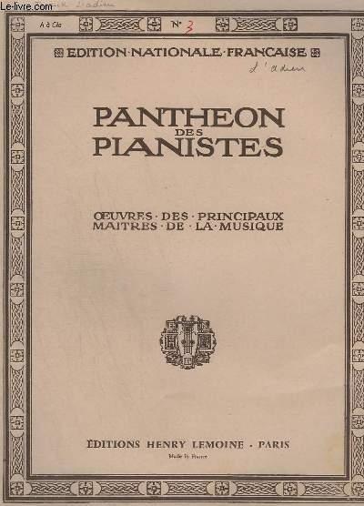 OEUVRES DES PRINCIPAUX MAITRES DE LA MUSIQUE - N° 3 : L'ADIEU - POUR PIANO.