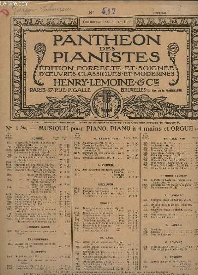 OEUVRES POUR PIANO - N° 417 : LE GARCON LABOUREUR, RONDO.