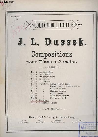 COMPOSITIONS POUR PIANO A 2 MAINS - N° 13 : LES SOUPIRS.