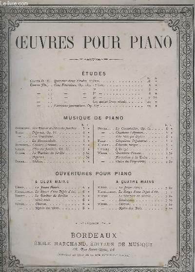 OEUVRES POUR PIANO : MA BARQUE LEGERE, RONDO PASTORAL.
