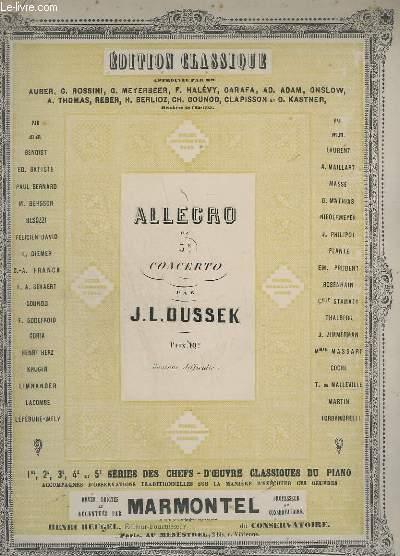ALLEGRO DU 5ème CONCERTO - POUR PIANO.