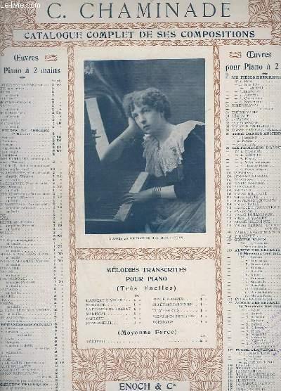 CATALOGUE COMPLET DE SES COMPOSITIONS - INCOMPLET - OP. 89 : THEME VARIE- PIANO A 2 PIANOS.