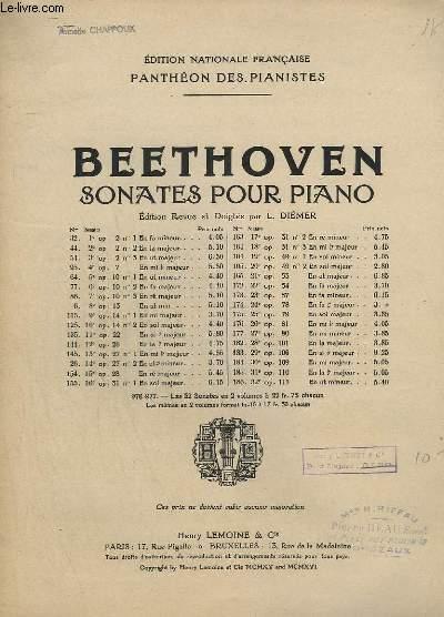 SONATES POUR PIANO - N° 174 - OP.78 : 24° SONATE EN FA # MAJEUR.